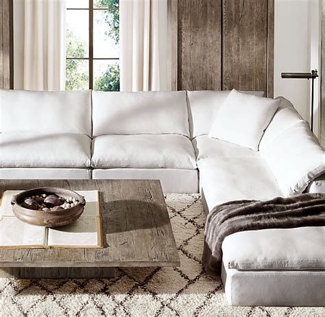 restoration hardware cloud sectional restoration hardware sectional sofas sectional collections