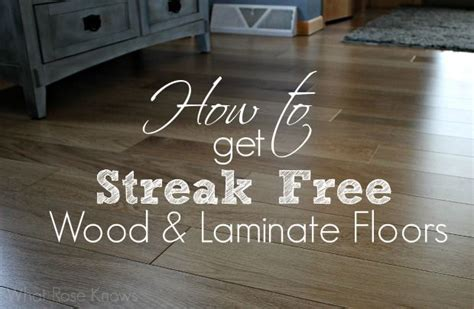 how to get streak free wood and laminate floors