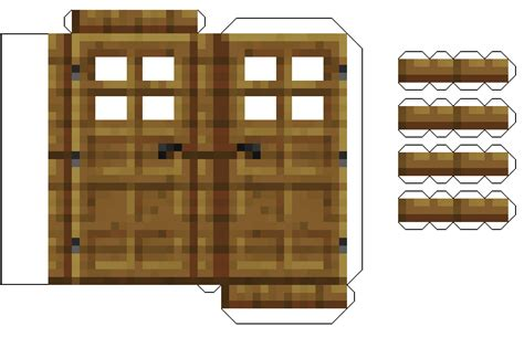 Minecraft Papercraft Door - papercraft doors fixed