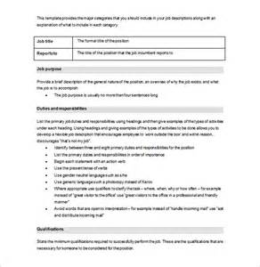 corporate roles and responsibilities template doc 728942 doc814883 company description template