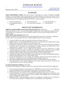 System Analyst Sle Resume by Business Analyst Hr Resume