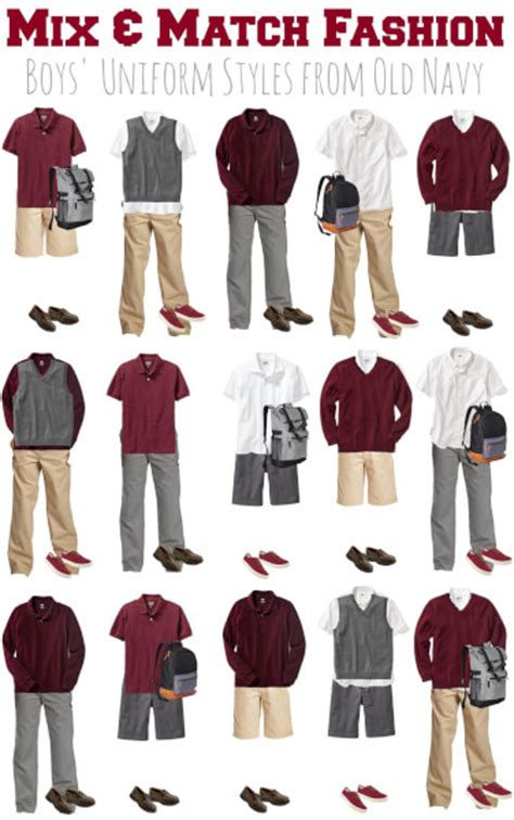 7 Stores To Buy School Clothes From This Year by Mix Match Boys School Uniforms From Navy Bargains