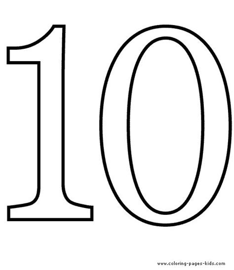 free coloring pages for numbers 1 10 counting number