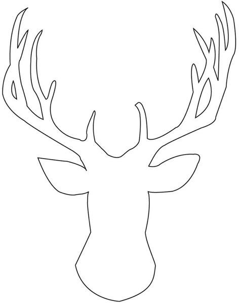 coloring page of deer head deer outline tis the season az coloring pages