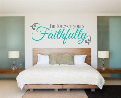 bedroom stickers bedroom decal bedroom wall decal love decal i m forever