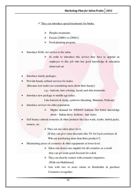 marketing plan for salon praba salon business plan template marketing plan for salon