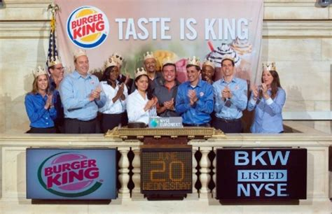 burger king 174 celebrates listing on the new york stock exchange business wire