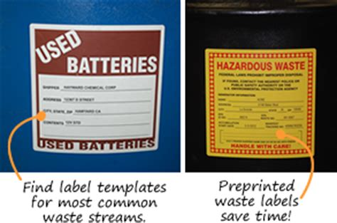 Custom Hazardous Waste Labels Free Hazardous Waste Label Template