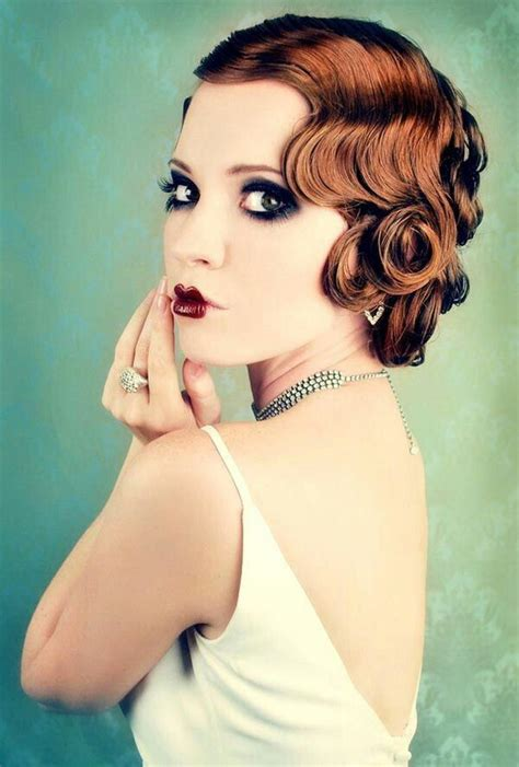 flapper updo hairstyles flapper girl retro hair pinterest girls marcel and