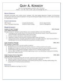 Food Quality Manager Sle Resume by Quality Project Manager Resume