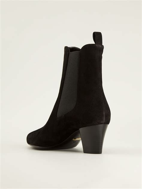 gucci chelsea boots gucci chunky heel chelsea boots in black lyst