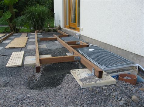terrasse unterkonstruktion terrasse selber bauen unterkonstruktion 65 images