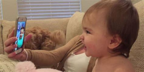 adorable video shows babies facetiming  babies chat