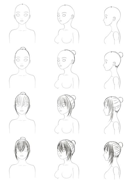 Step By Step Hairstyles To Draw | drawing step by step hairstyles newhairstylesformen2014 com