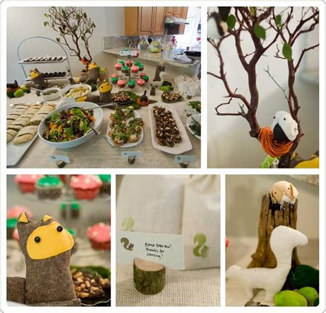 woodland themed baby shower decorations baby shower ideas