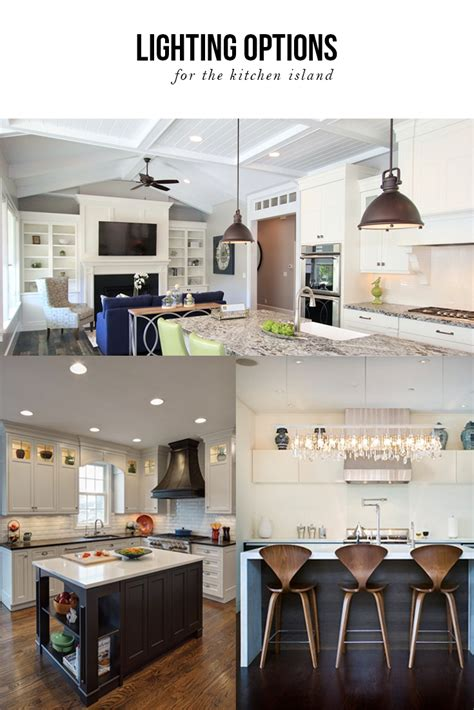 kitchen lighting options lighting options the kitchen island
