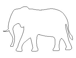 Elephant Pattern Noah S Ark Pinterest Elephant Pattern Patterns And Template Elephant String Template