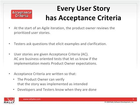 acceptance criteria template how to fit testing into the iteration