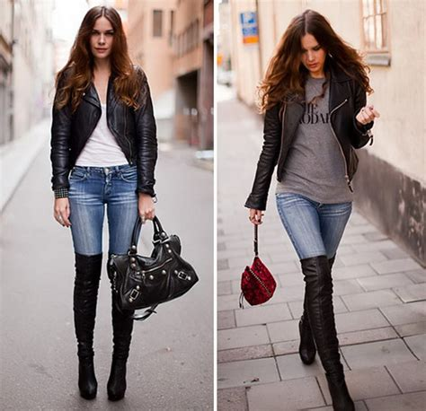 the knee boots trend stylish