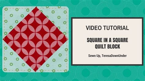 Quick and easy square in a square quilt block video
