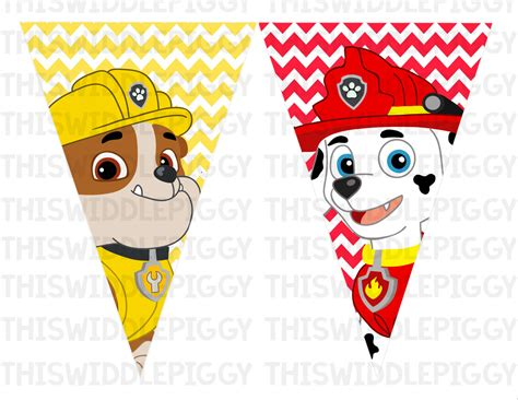 printable banner paw patrol unavailable listing on etsy