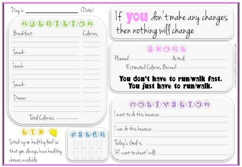 printable weight loss chart inspirational 7 best food journal images