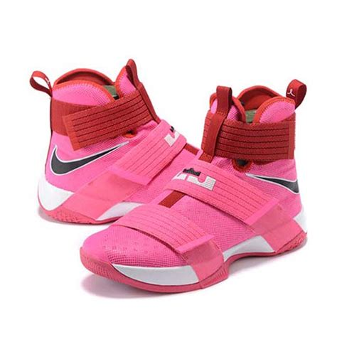 lebron soldier x breast cancer pink shoes