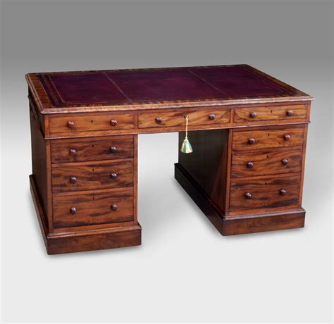 antique partners desk antique pedestal desk