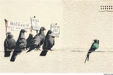 banksys latest graffiti    heads  tendring
