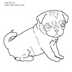 pug coloring pages pug puppy coloring page