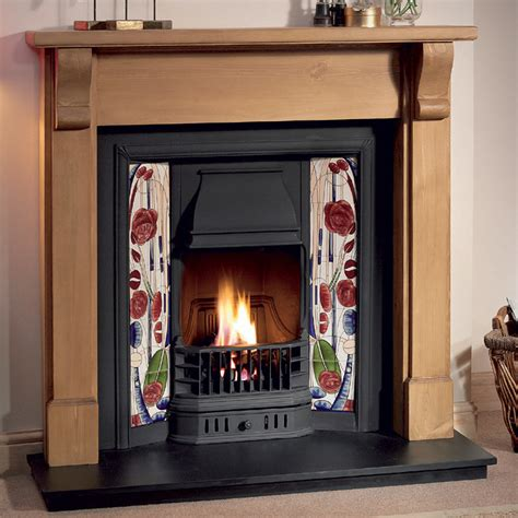 gallery bedford wood fireplace with prince cast iron tiled