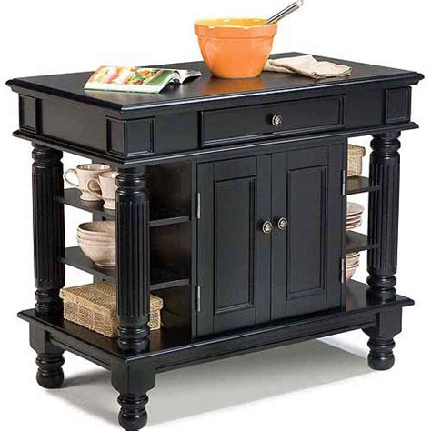 Black Kitchen Island Table Home Styles Americana Black Kitchen Island Walmart