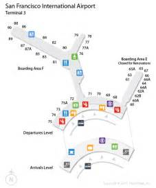 San Francisco International Airport Terminal Map by Sfo San Francisco International Airport Terminal Map