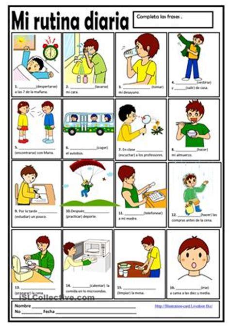 imagenes verbos reflexivos completar frases empleando el presente de los verbos