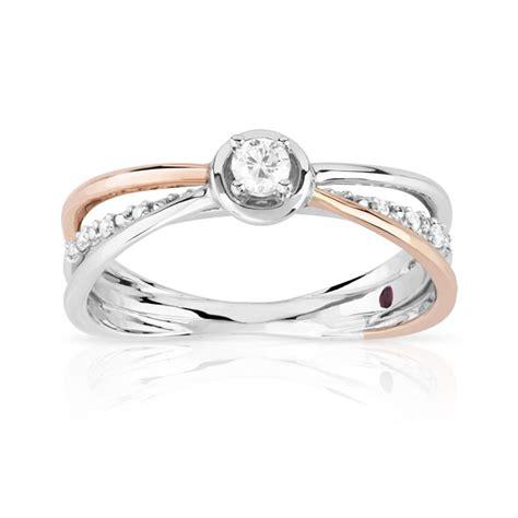bague 2 ors et diamant silver rings