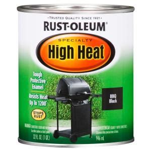 rust oleum specialty 1 qt bar b que black satin high heat
