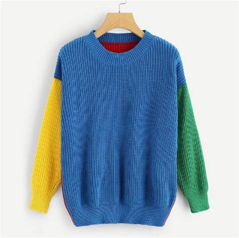 colored sweater multi colored knitted sweater onyx bunny