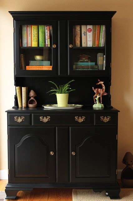 black painted dining room hutch eclectic san francisco by story space interior design