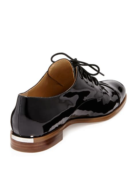 michael kors oxford shoes lyst michael michael kors patent leather oxford