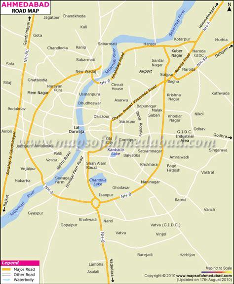 ahmedabad city map satellite ahmedabad junglekey in image