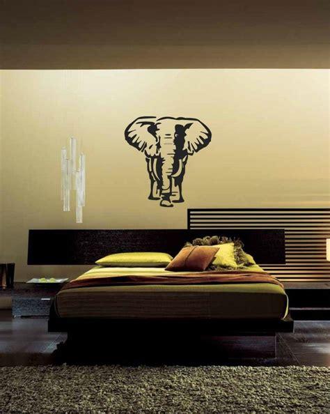 Safari Wall Decor For Living Room by Large Bangkok Elephant Animal Wall Stickers For
