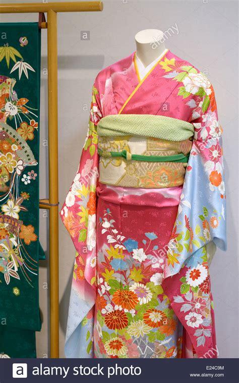 Kimono Obi silk japanese kimono mannequin stock photos silk