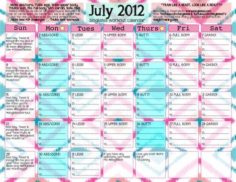 Blogilates Calendar Calendar
