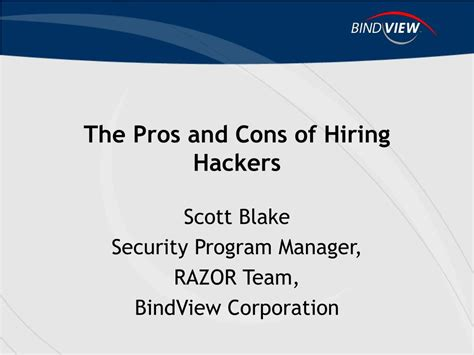 Pros And Cons Of Mba Degree by Ppt The Pros And Cons Of Hiring Hackers Powerpoint