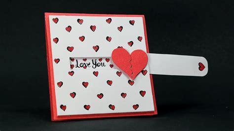 how to make valentines card diy card slider card tutorial