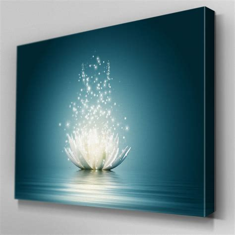 canvas prints fl317 dazzling lotus flower canvas wall art multi panel