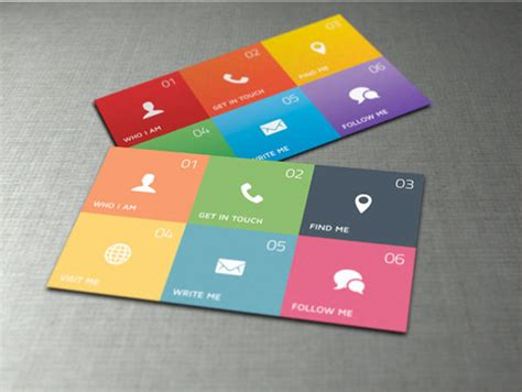 Cool Cards Template by Colored Cool Business Cards Free Template Downloads