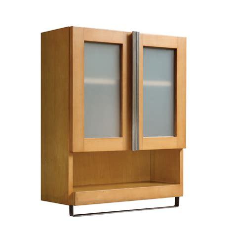 lowes bathroom wall cabinets shop decolav tyson 22 in w x 26 in h x 8 88 in d maple