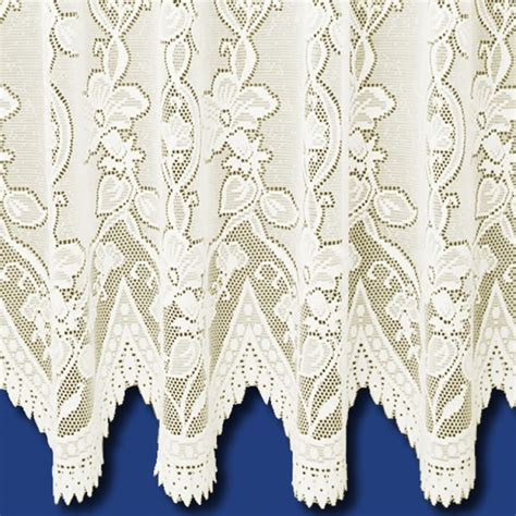 cream lace net curtains andrea heavyweight net curtain in cream sold by the metre