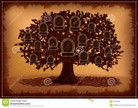 Vector Family Tree With Frames And Leafs Royalty Free Stock Image Image 25654866 Vintage Family Tree Royalty Free Stock Images Image 32018779